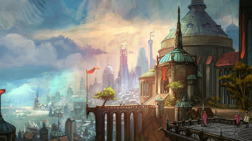 demacia city lolwallpapers