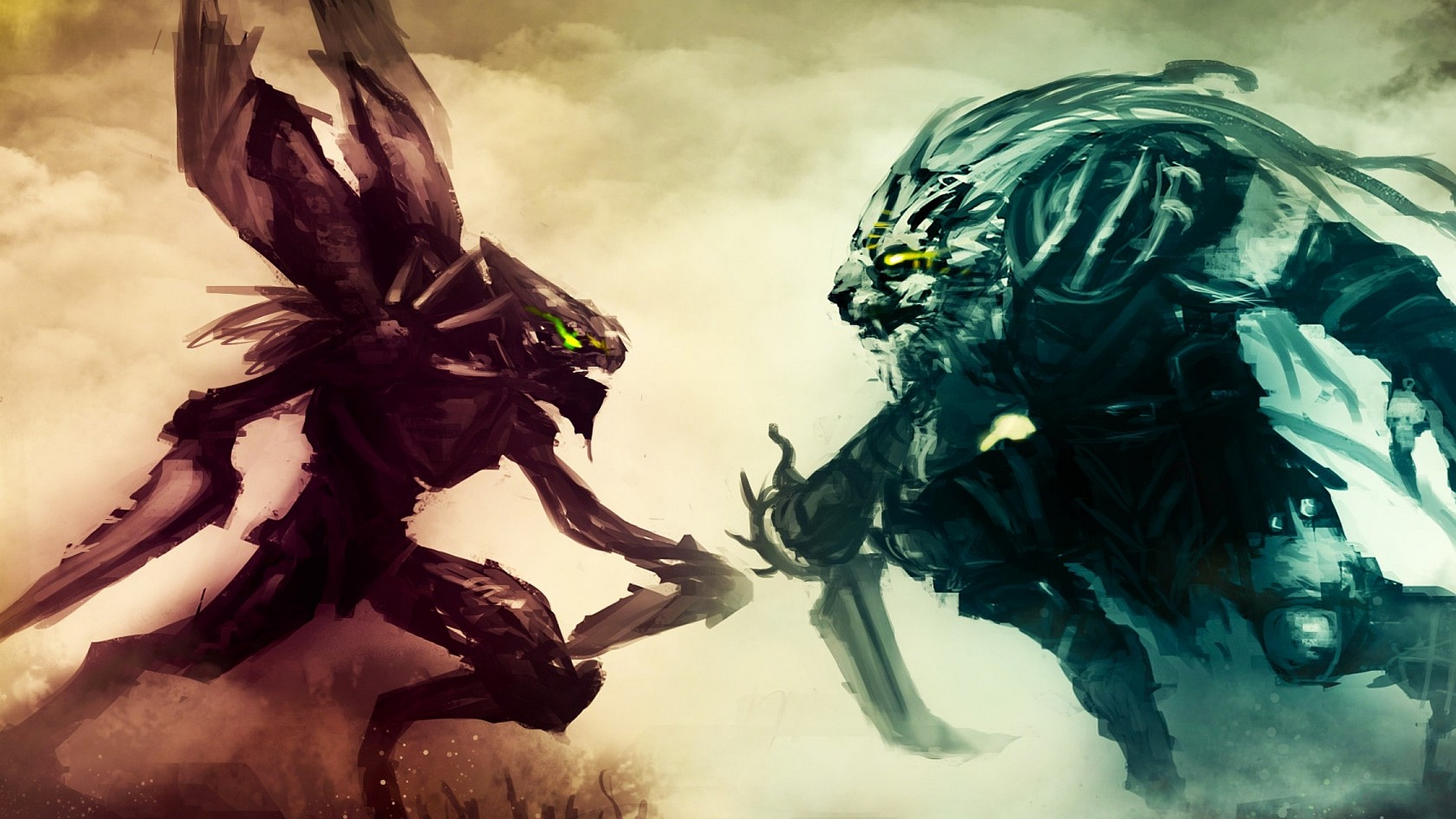 Kha'Zix vs Rengar Fan Art - League of Legends Wallpapers