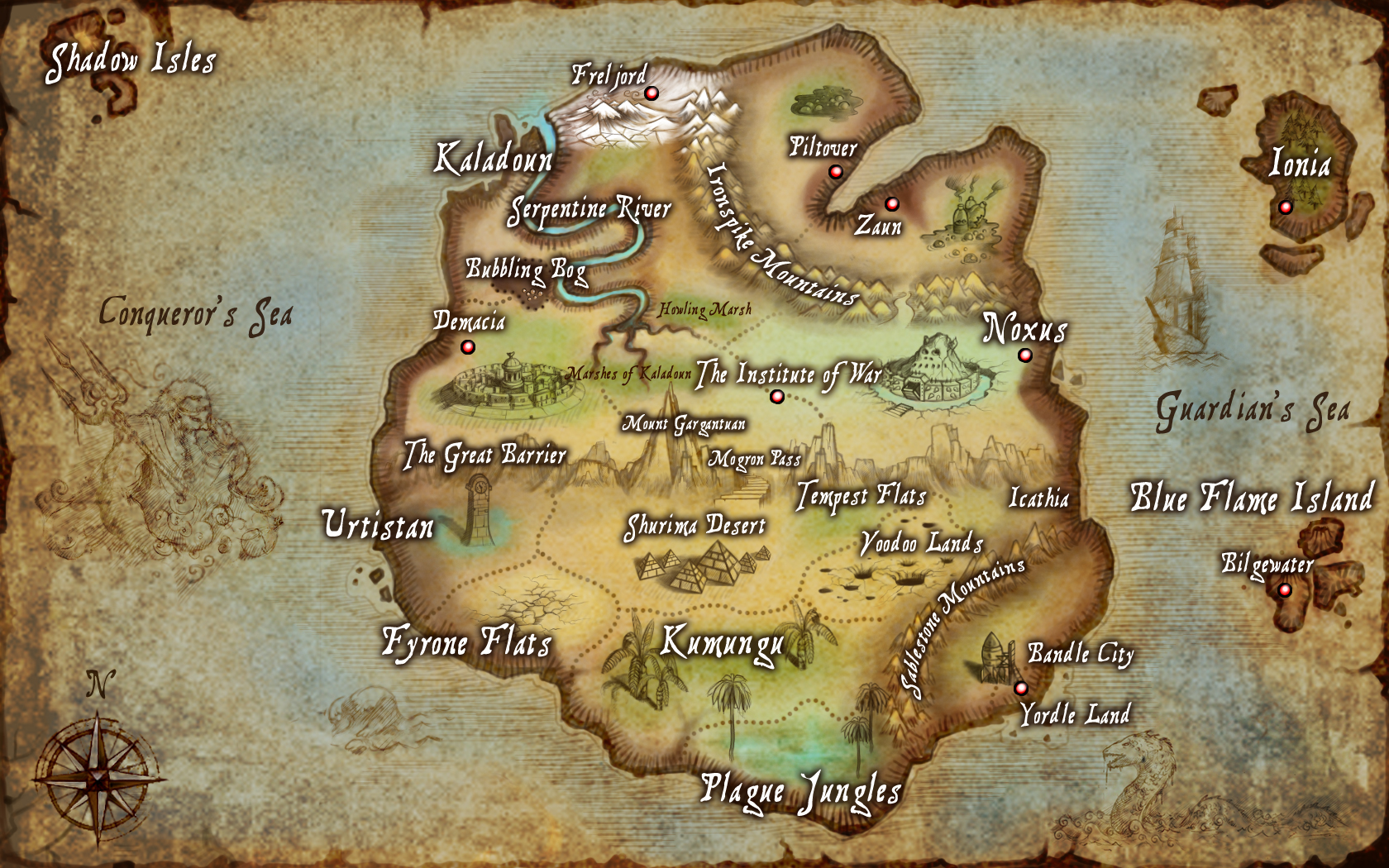League of Legends Map - LoLWallpapers
