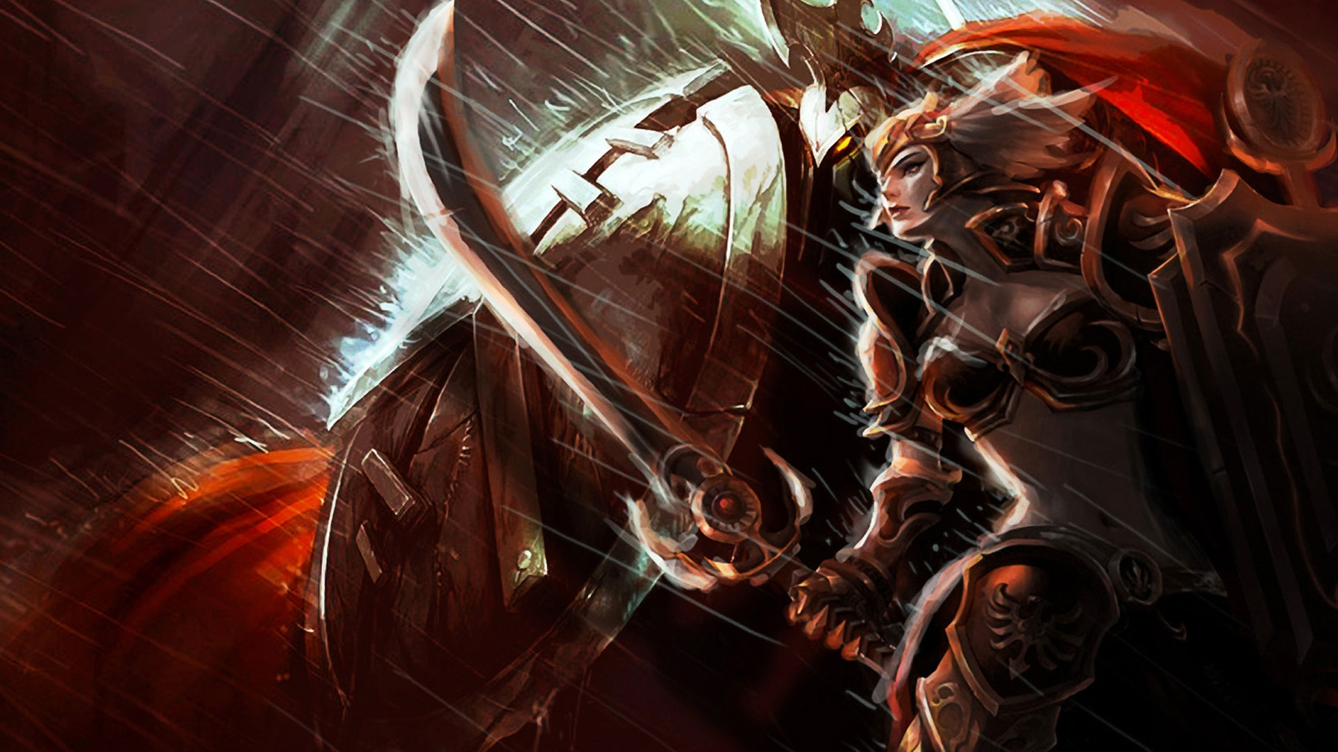 leona wallpaper fan art - photo #17