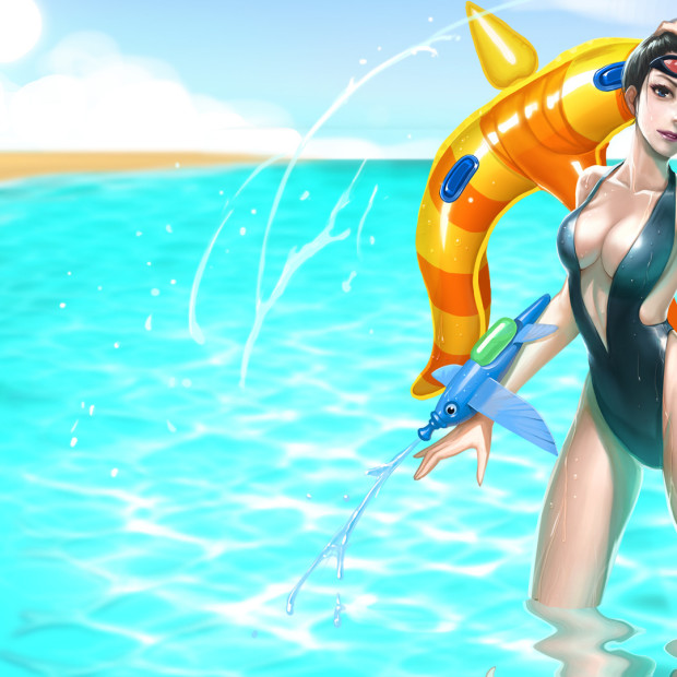 Pool Party Vayne Custom Skin