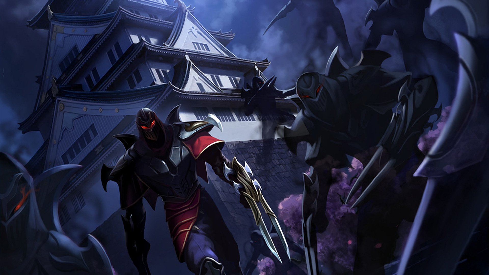 zed the master of shadows artwork league of legends