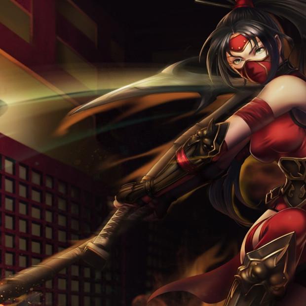 Crimson Akali Chinese Skin