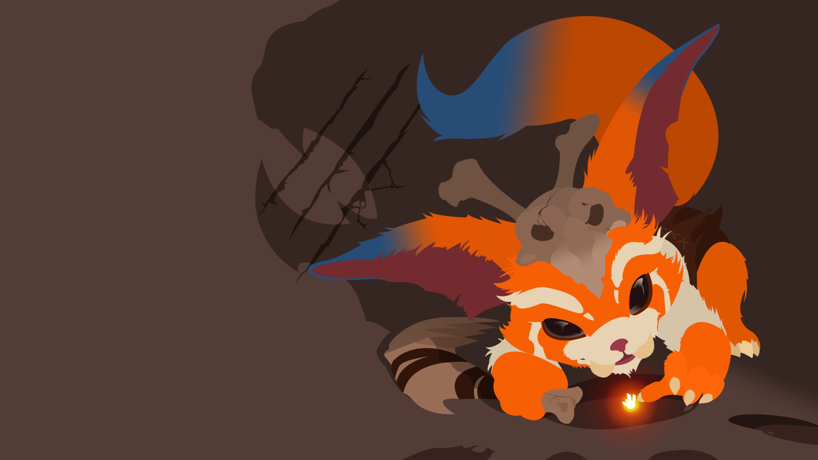 Gnar Minimalistic Fan Art - League of Legends Wallpapers