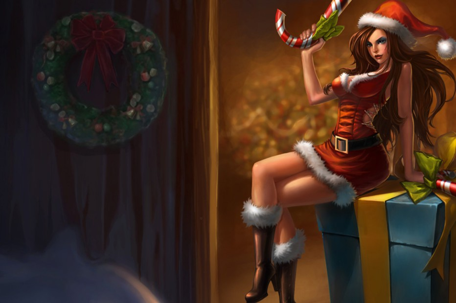 Candy Cane Miss Fortune Chinese Skin