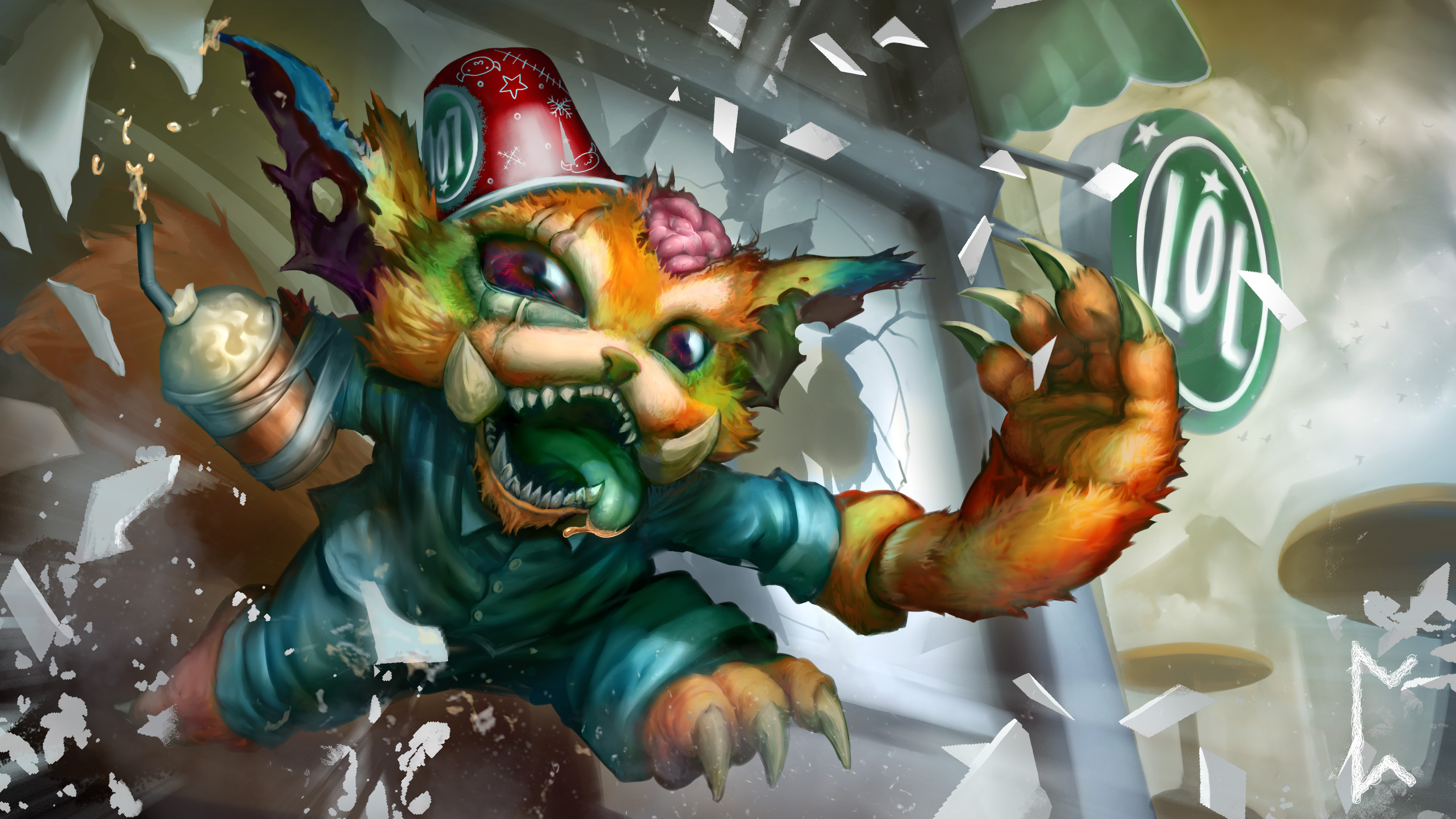 Gnar Fan Art - League of Legends Wallpapers