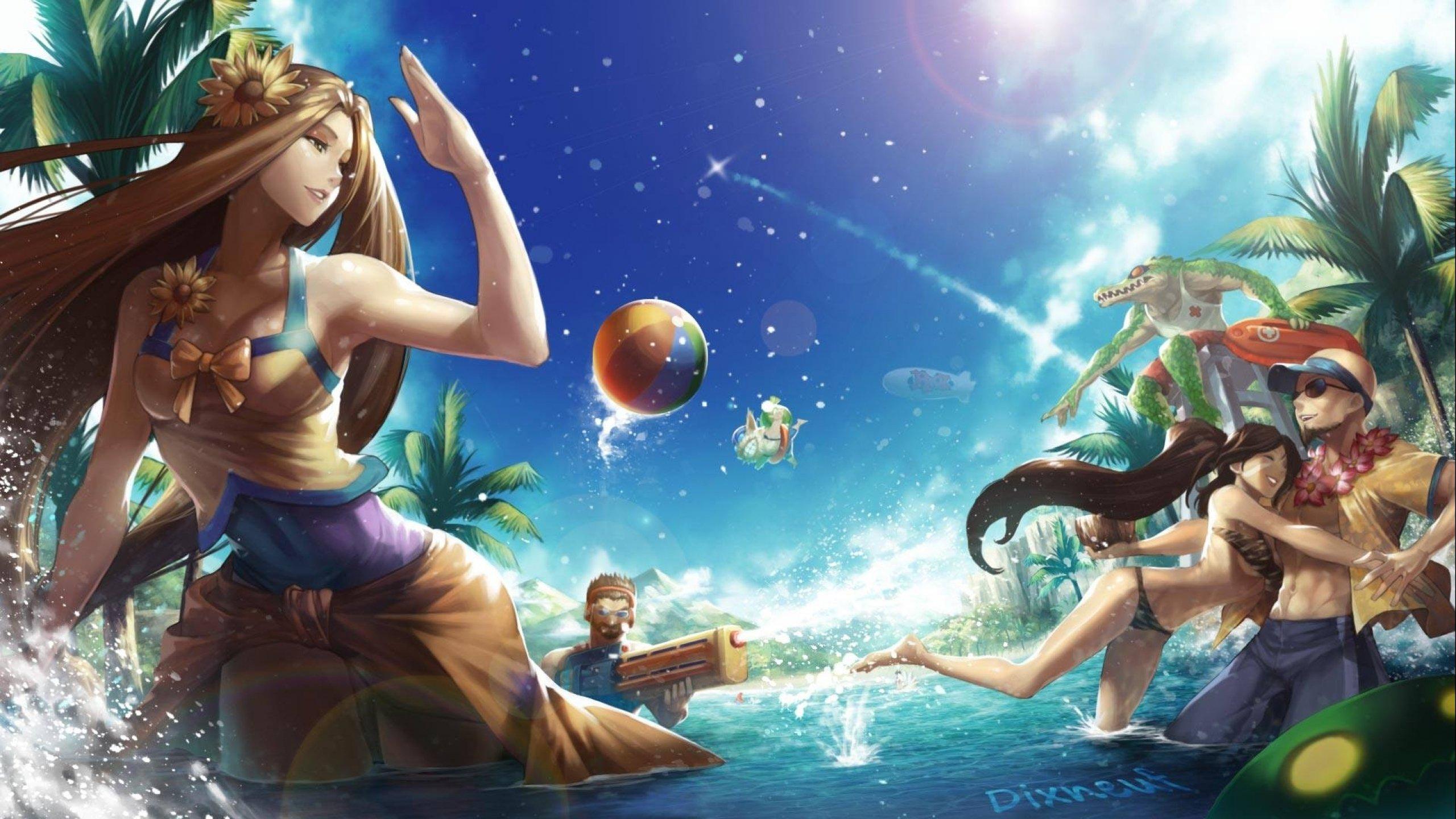 Pool Party Skins Fan Art - League of Legends Wallpapers