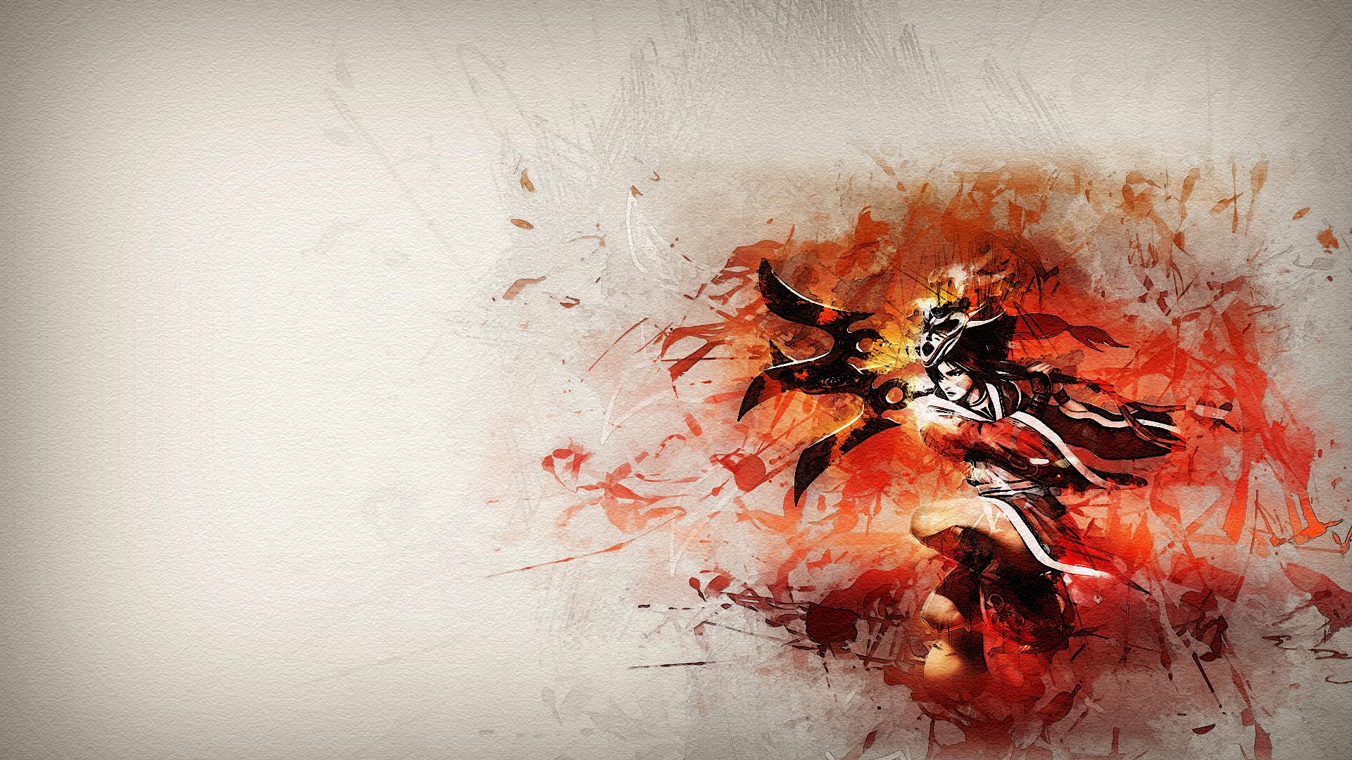blood moon akali fan art league of legends wallpapers