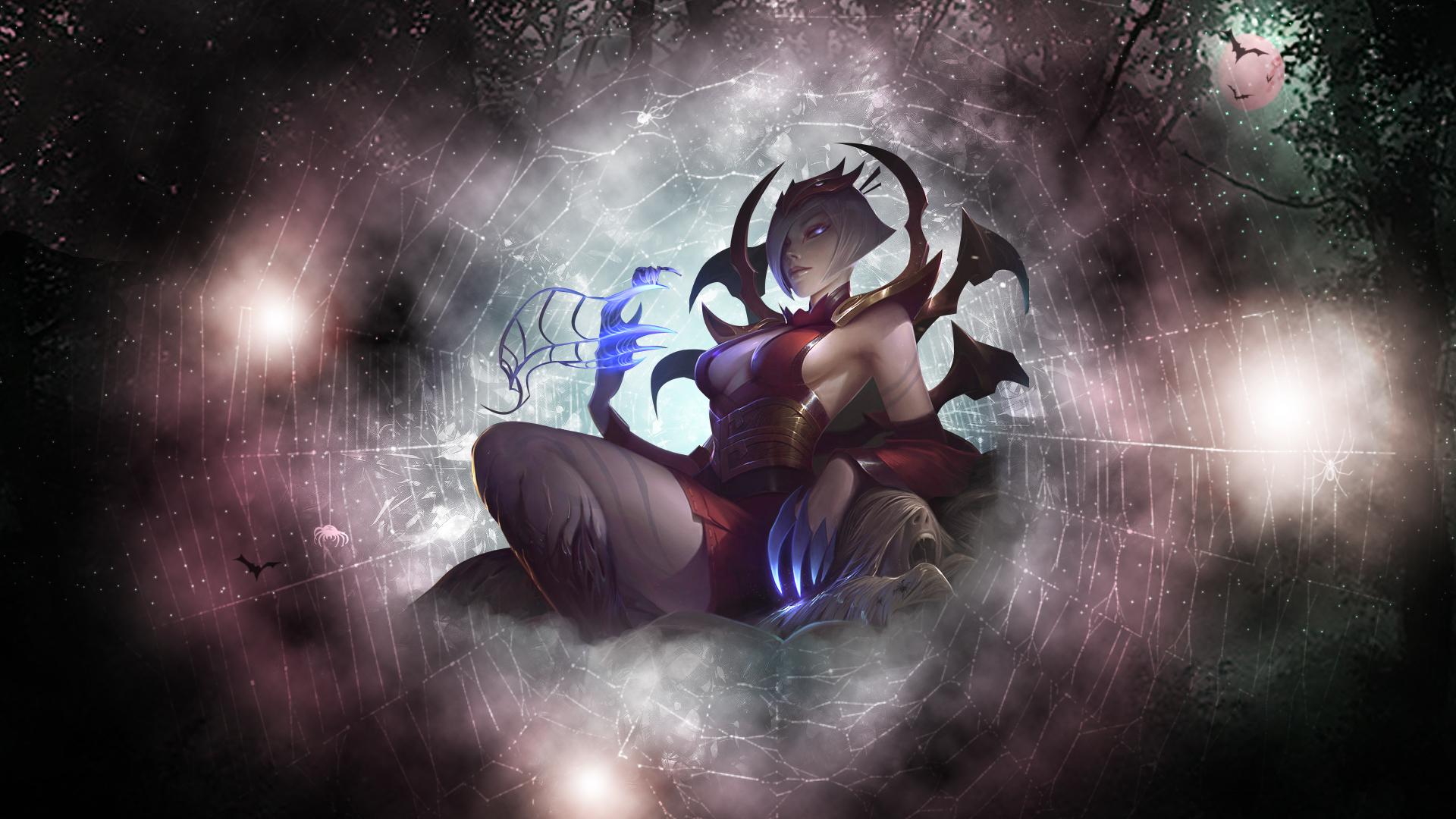 Blood Moon Elise v3 Fan Art - League of Legends Wallpapers