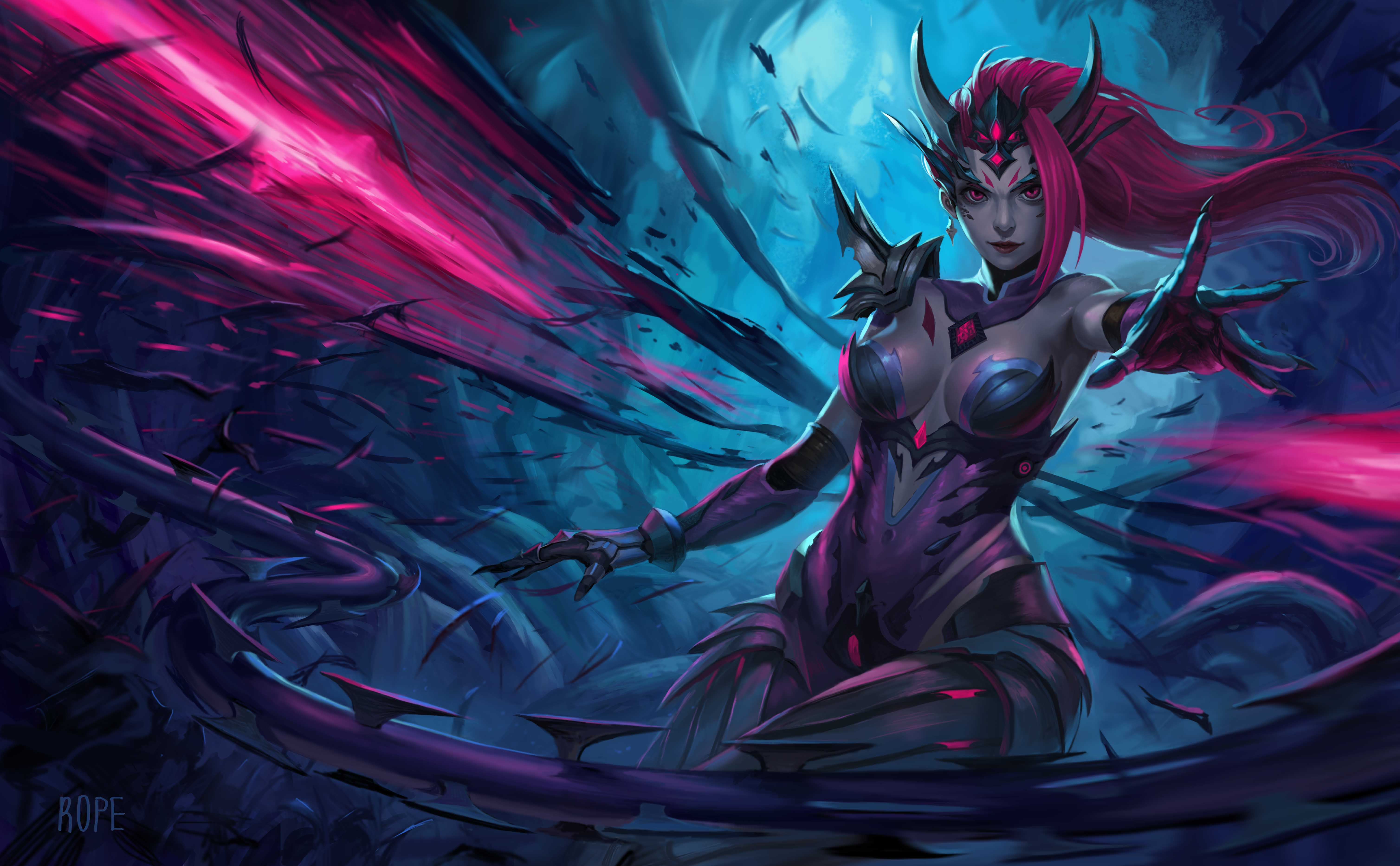 headhunter zyra fan art league of legends wallpapers. Black Bedroom Furniture Sets. Home Design Ideas