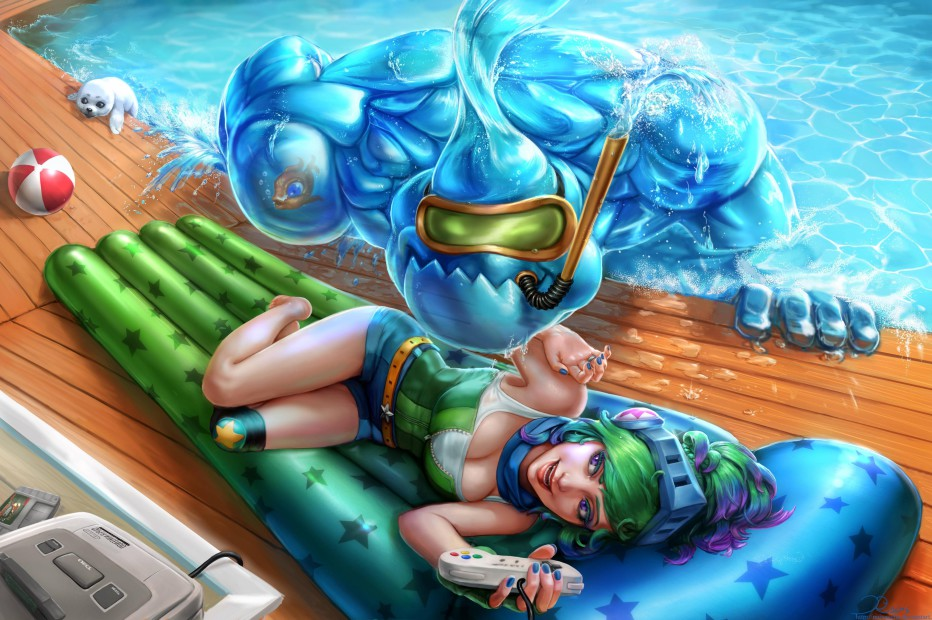 Riven & Zac Pool Party