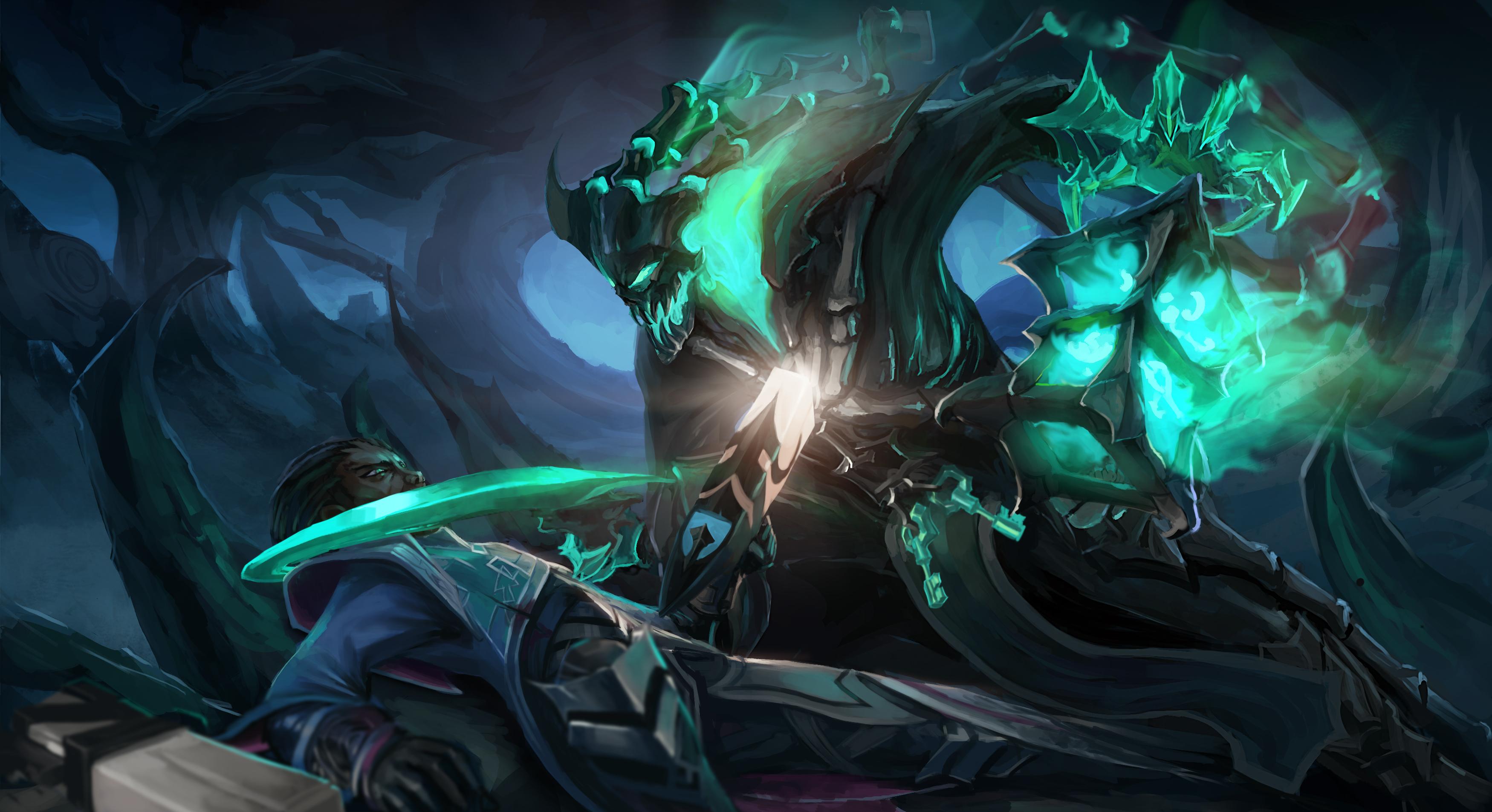 Thresh Vs Lucian Fan Art - League of Legends Wallpapers