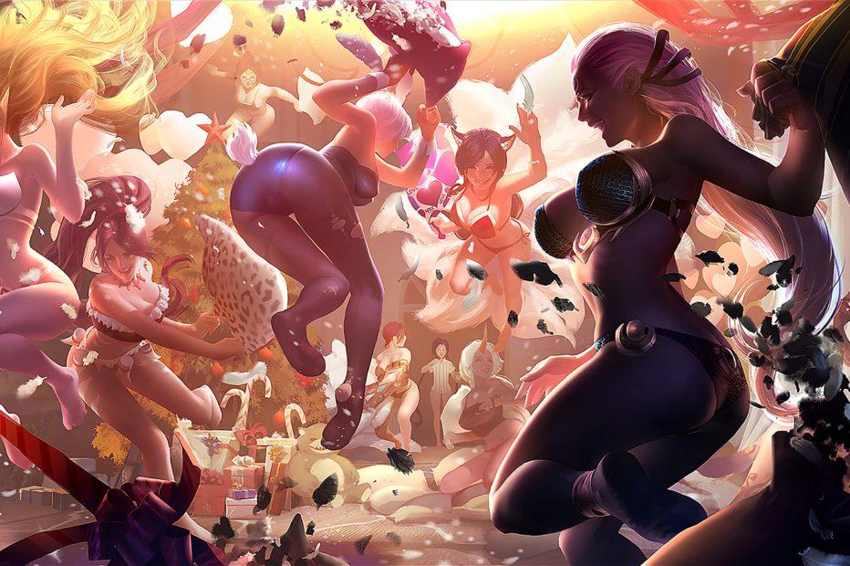 League of Legends Girls Pillow Fight