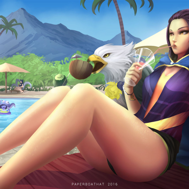 Pool Party Quinn Skin Concept