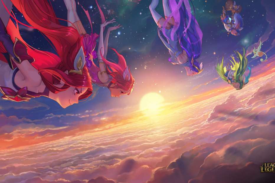 Star Guardian Jinx, Lux, Janna, Lulu & Poppy