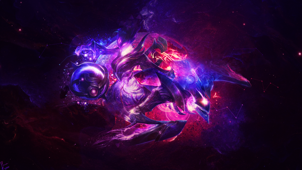 Dark Star Kha'Zix & Orianna | LoLWallpapers