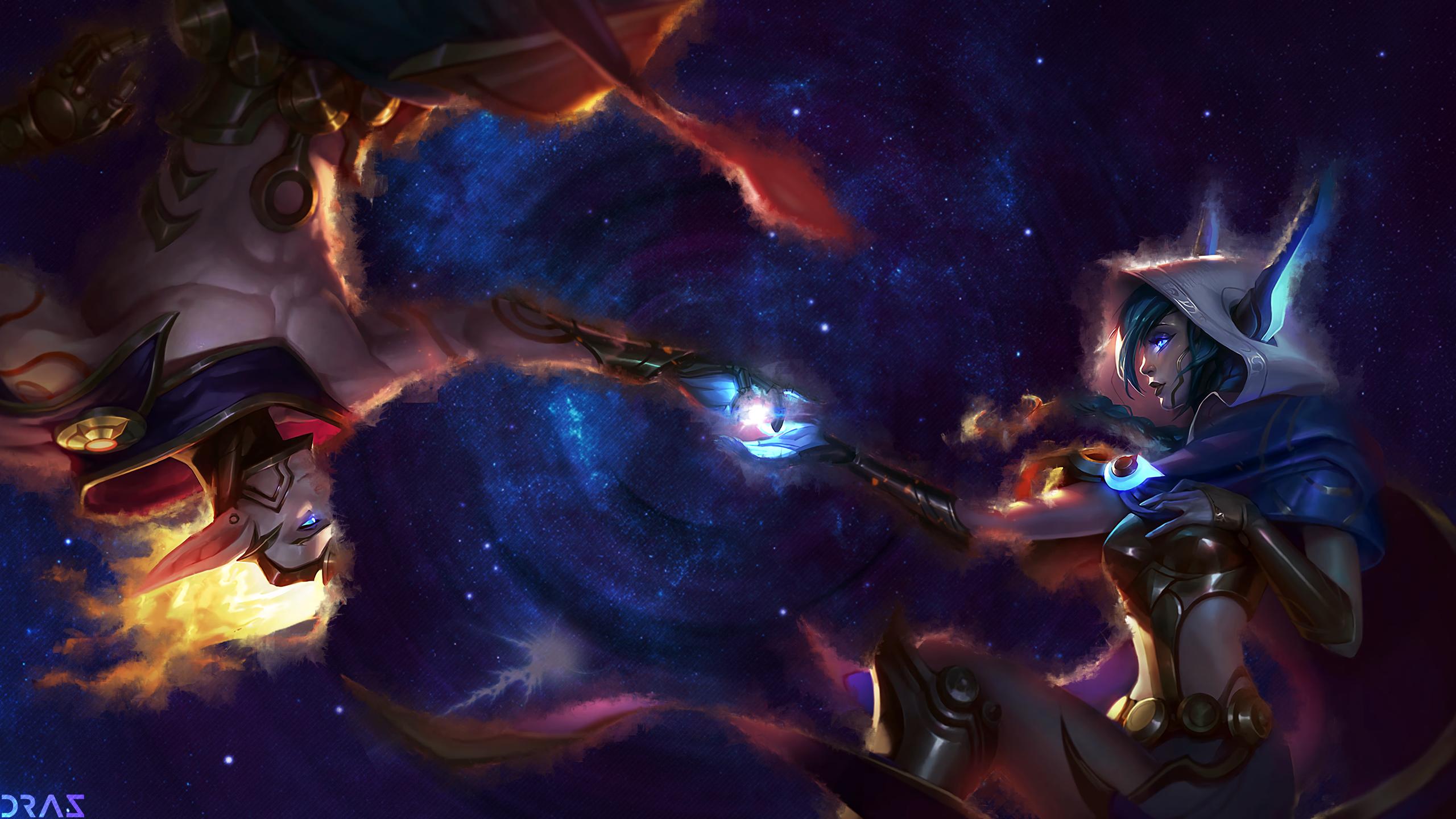 cosmic xayah & rakan - lolwallpapers